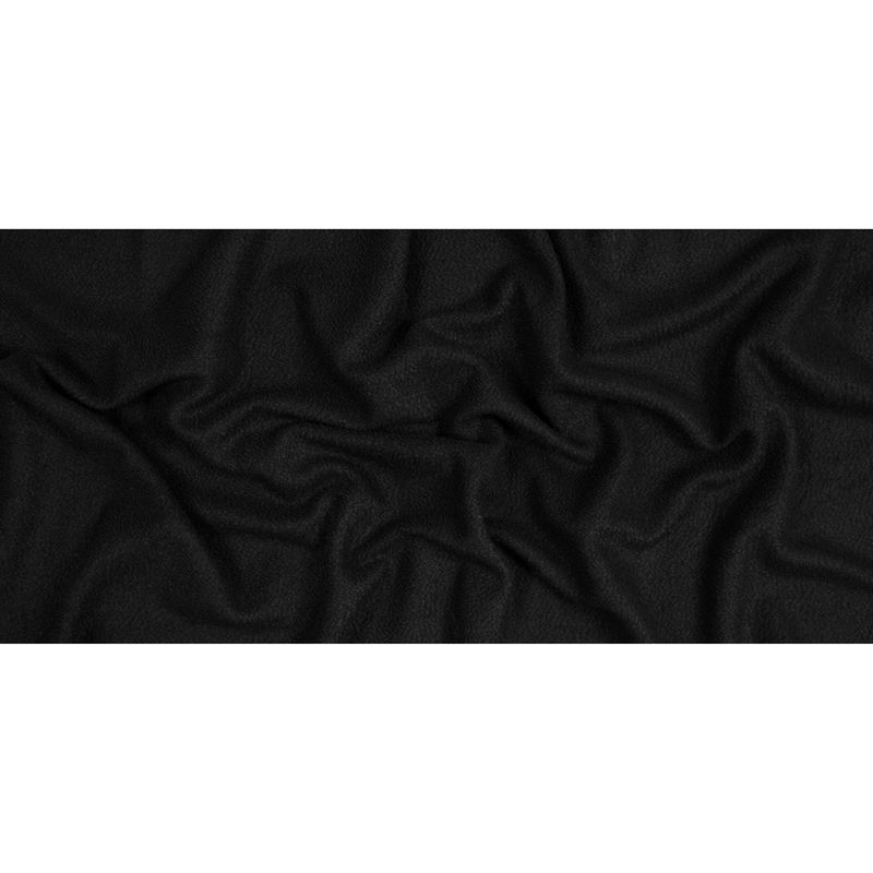 Black Chunky Knit Wool Boucle - Full
