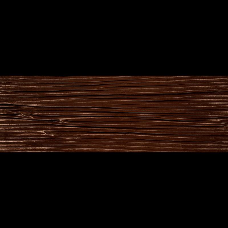 Adobe Brown Pleated Velour - Full