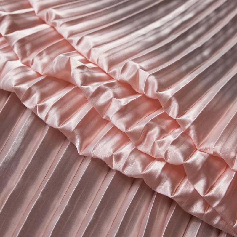 Blush Pleated Stretch Satin - Folded