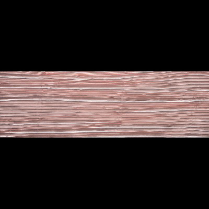 Blush Pleated Stretch Satin - Full