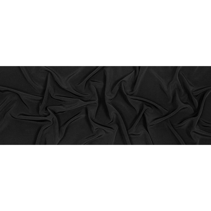 Black Polyester Peachskin - Full