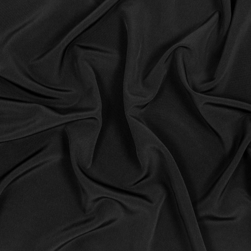 Black Polyester Peachskin