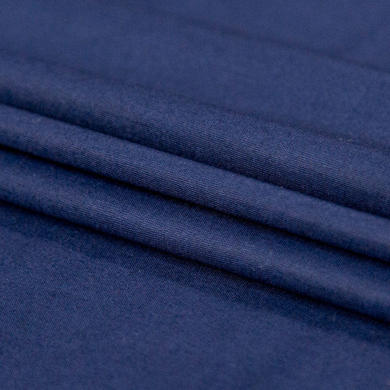 Toulouse Navy Mercerized Cotton Voile - BCI and Oeko-Tex Certified - Folded