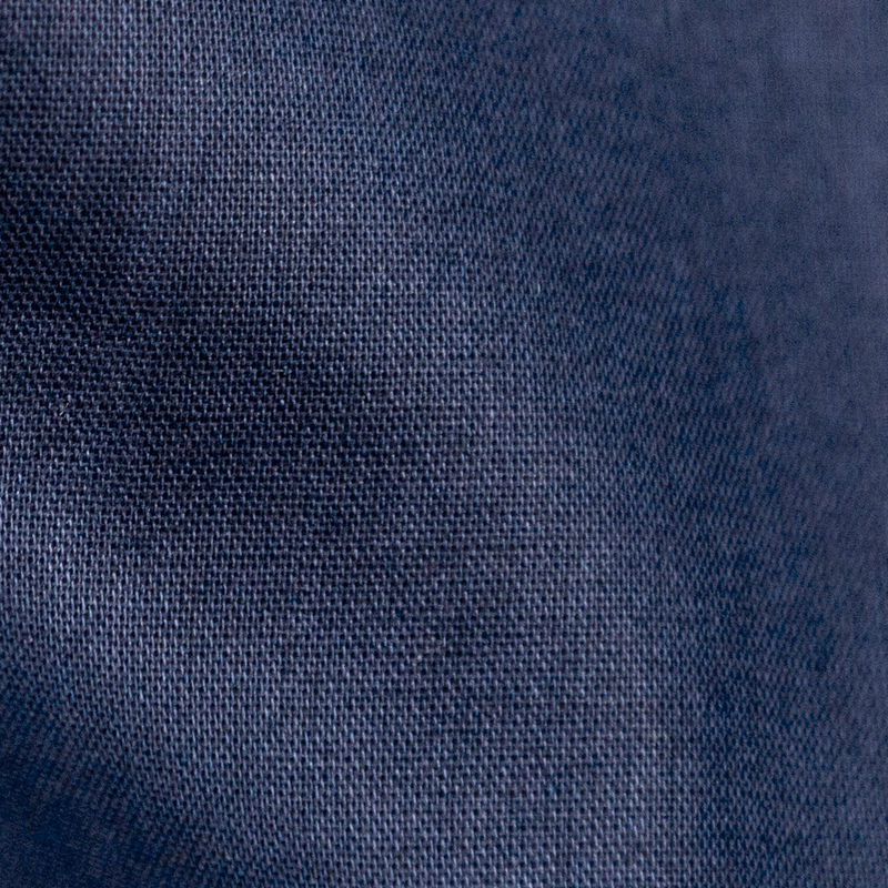 Toulouse Navy Mercerized Cotton Voile - BCI and Oeko-Tex Certified - Detail