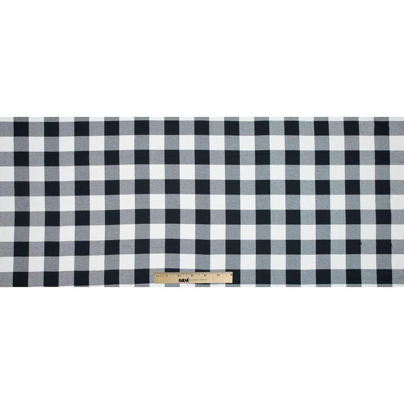 White and Black Buffalo Check Cotton Flannel - Full