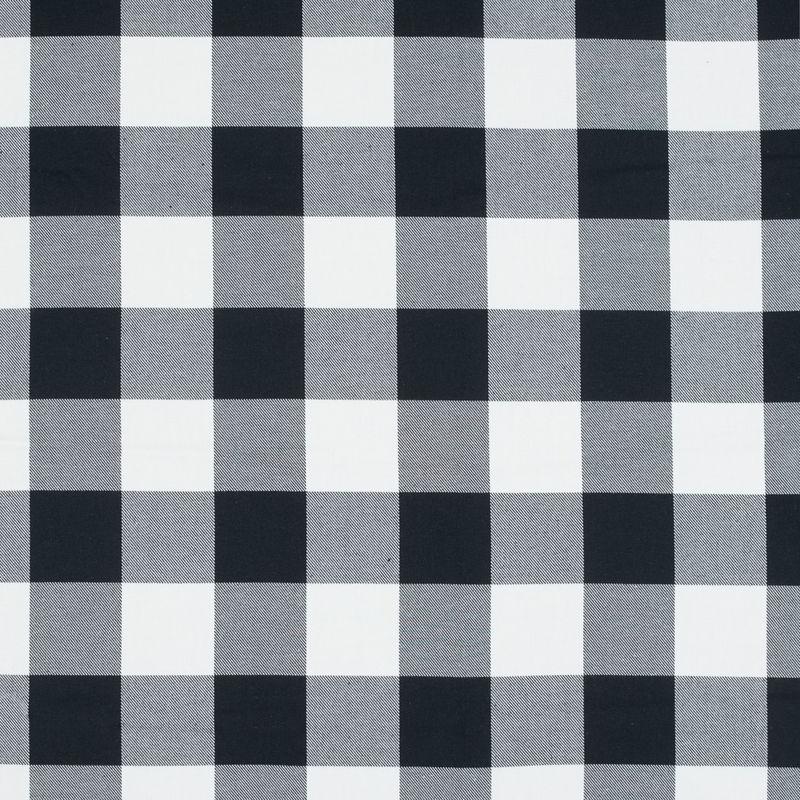 White and Black Buffalo Check Cotton Flannel