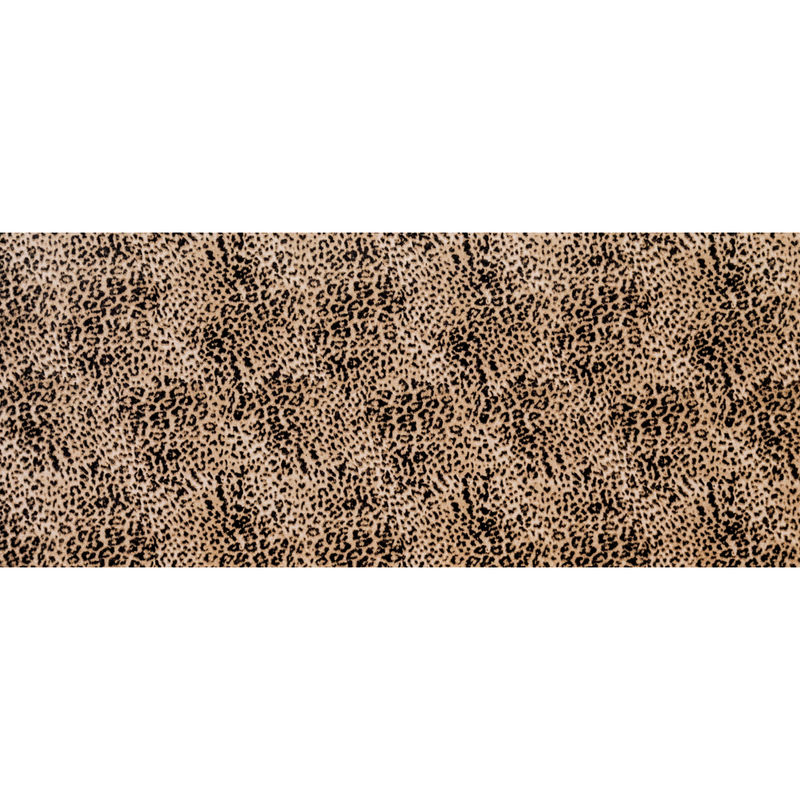 Beige Leopard Printed Brushed Cotton Twill - Full