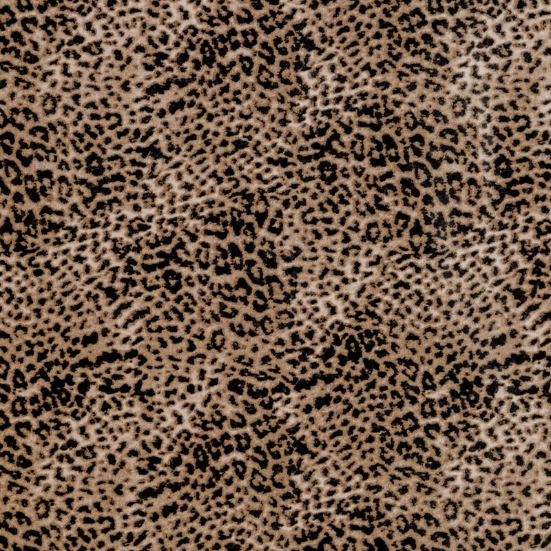 Beige Leopard Printed Brushed Cotton Twill