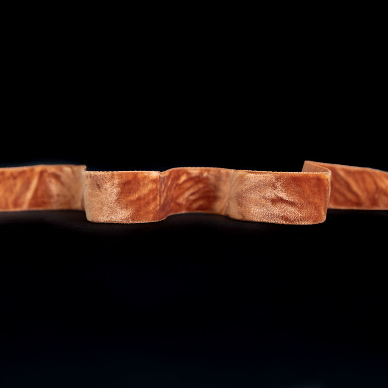 """Italian Harvest Gold Crushed Velvet Ribbon - 0.875"""""""