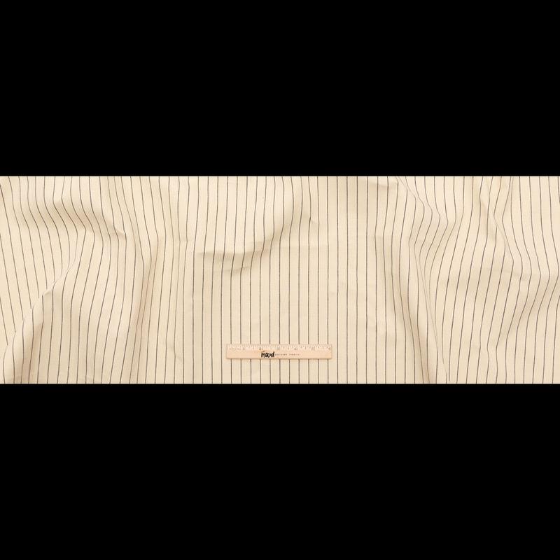 Rag & Bone Beige and Black Pencil Striped Selvedge Denim - Full