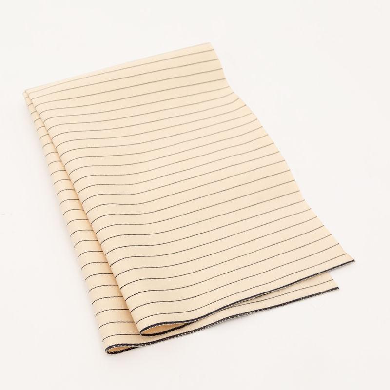 Rag & Bone Beige and Black Pencil Striped Selvedge Denim