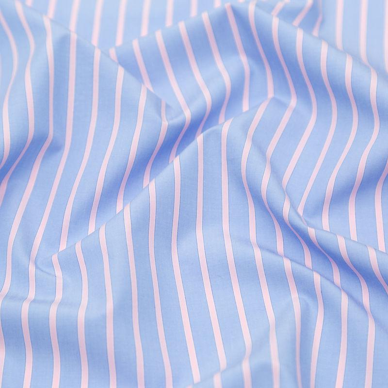Rag & Bone Powder Blue and Baby Pink Striped Cotton Poplin - Detail