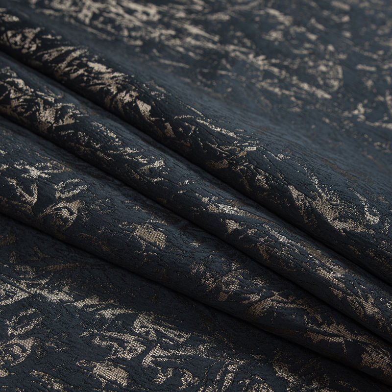 British Black Abstract Brocade - Folded