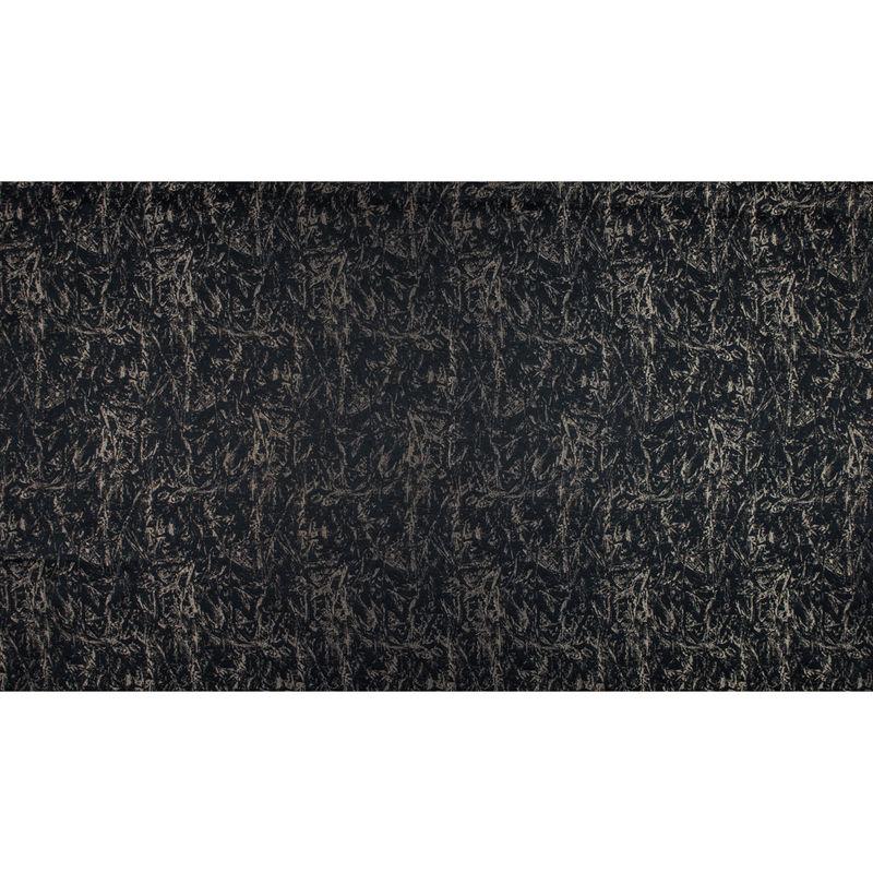 British Black Abstract Brocade - Full