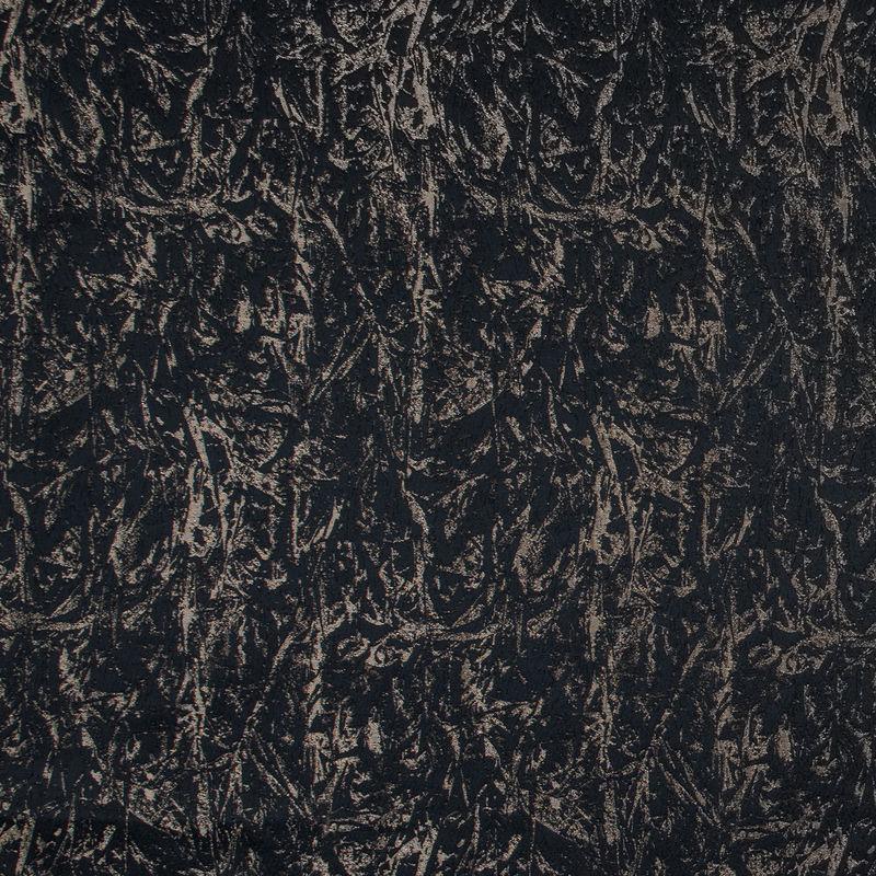 British Black Abstract Brocade
