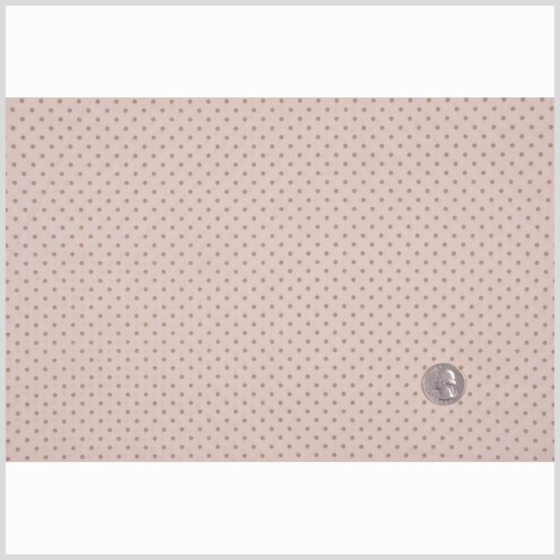 Tinted Cream/Stone Polka Dotted Cotton Poplin - Full