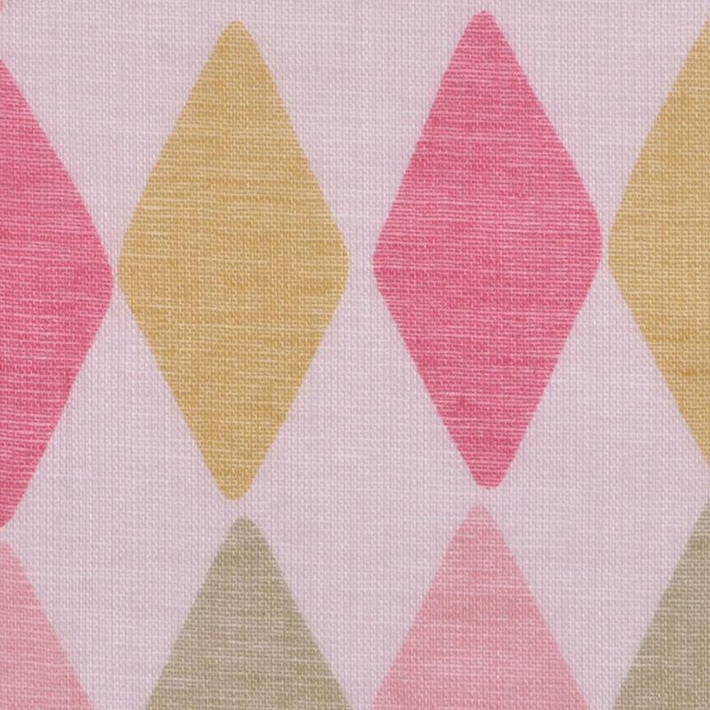 Pink and Green Diamond-Print Cotton Batiste - Detail