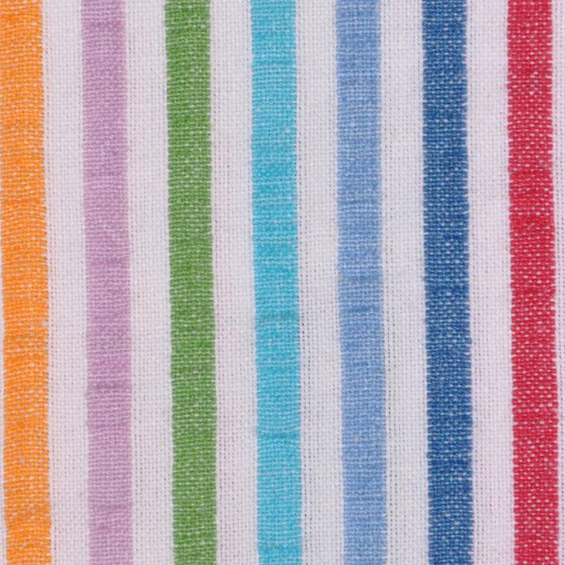Multicolored Striped Cotton Seersucker - Detail