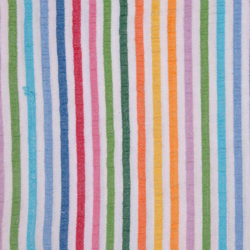 Multicolored Striped Cotton Seersucker