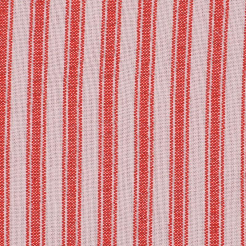 Red Ticking Stripe Cotton Seersucker - Detail