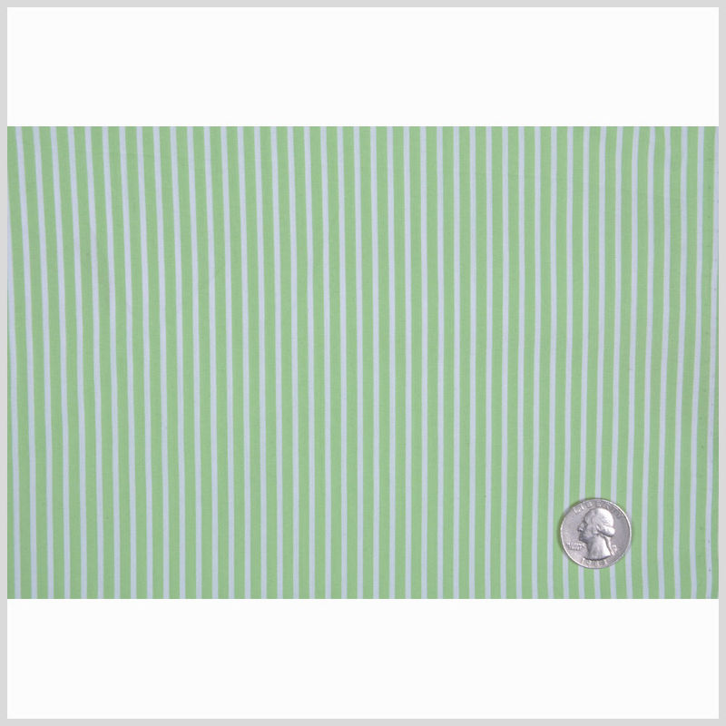 Ralph Lauren Paradise Green/White Candy Striped Stretch Cotton Shirting - Full