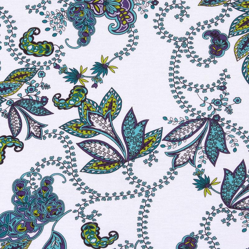 Multicolor Paisley Cotton Jersey Print - Detail