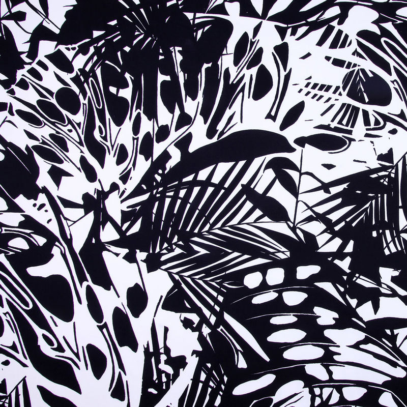 Italian Black and White Stretch Cotton