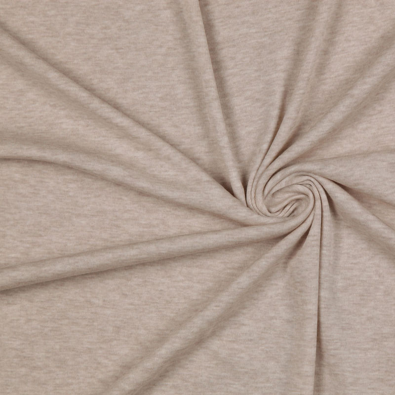 Heathered Beige Cotton Jersey
