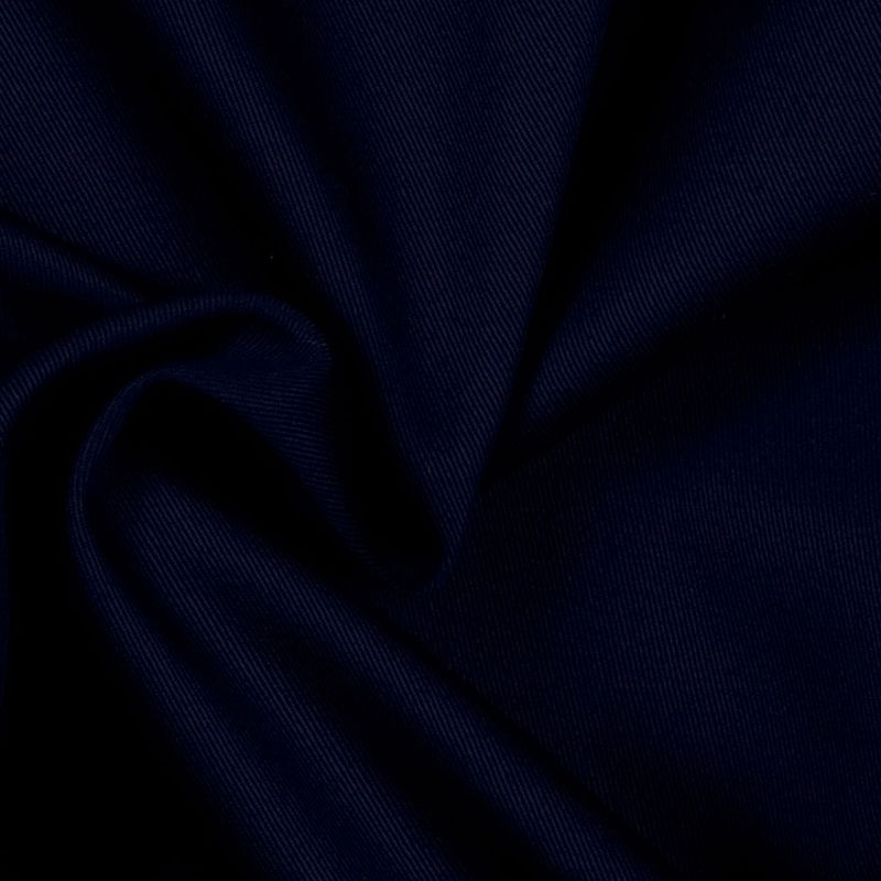 Navy Solid Organic Cotton Twill - Detail