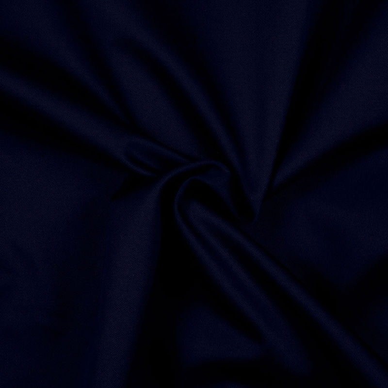 Navy Solid Organic Cotton Twill