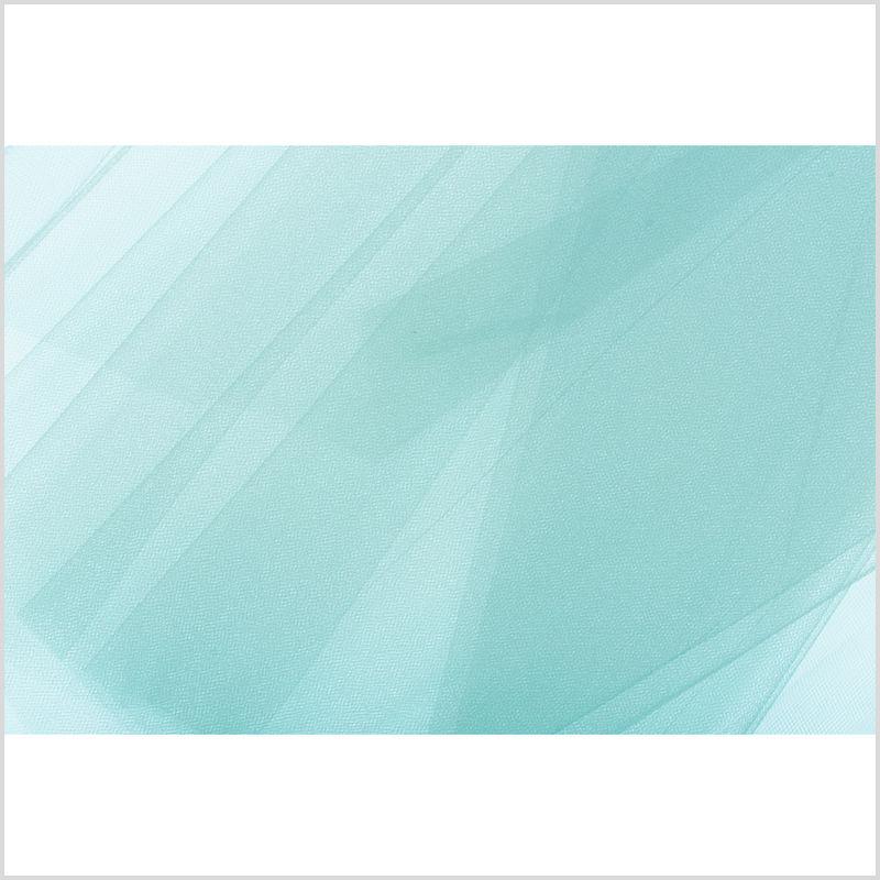Aqua Solid Nylon Tulle - Full