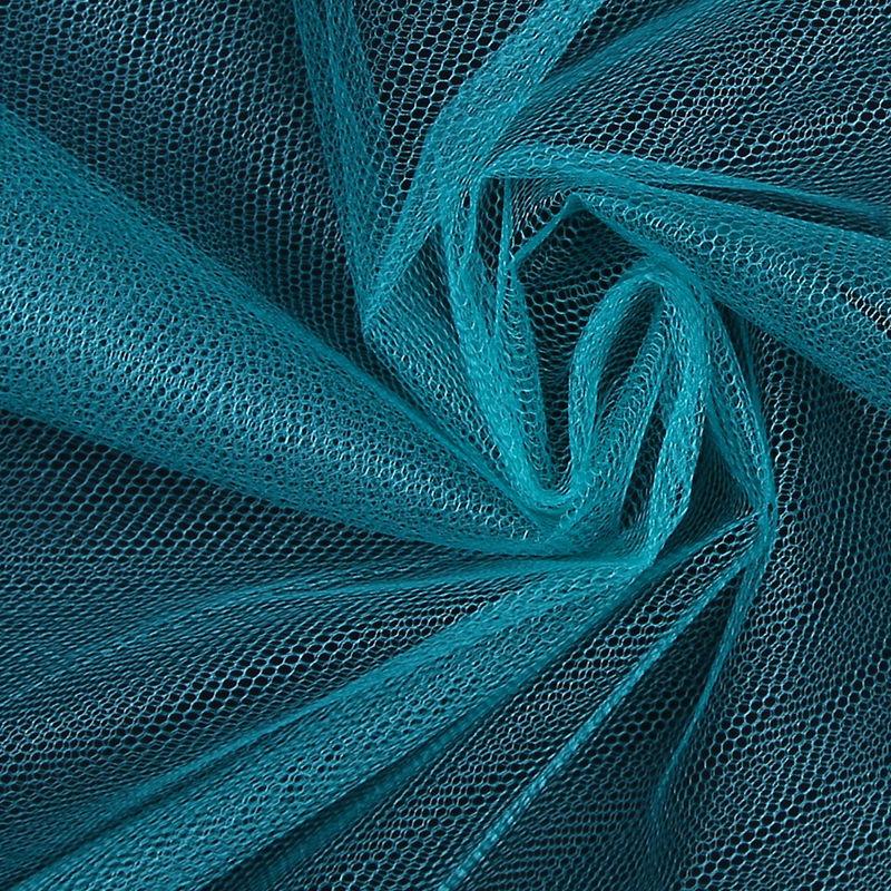 Teal Nylon Net Tulle - Detail