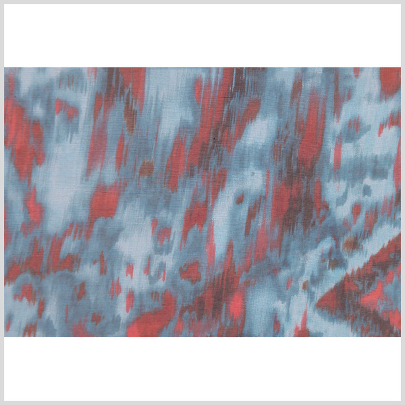 Oscar de la Renta Turquoise Abstract Silk Organza - Full