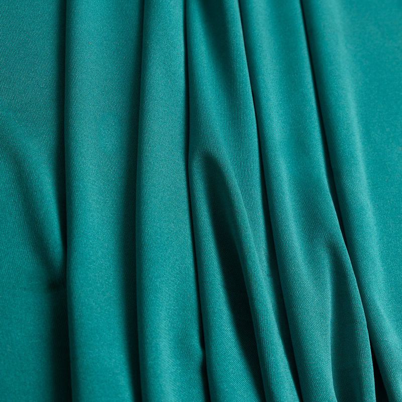 Dark Aqua Solid Silk Jersey - Folded