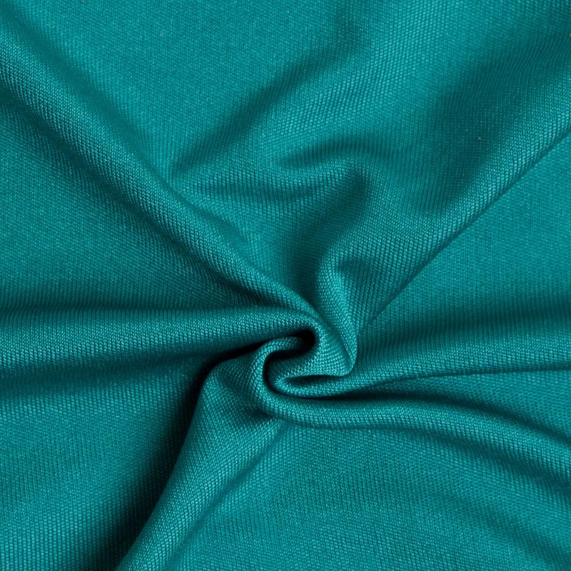 Dark Aqua Solid Silk Jersey - Detail