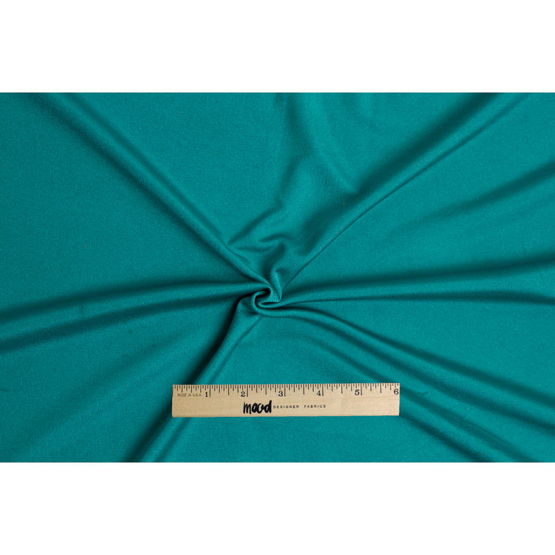 Dark Aqua Solid Silk Jersey - Full