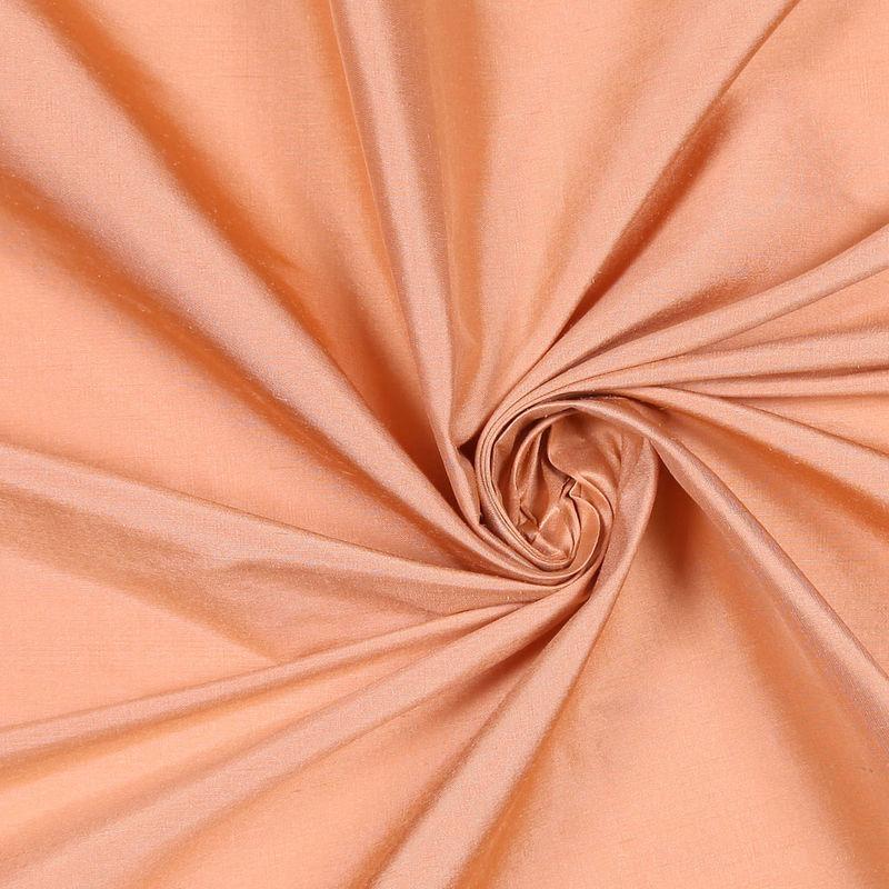 Dark Peach Solid Shantung/Dupioni - Detail