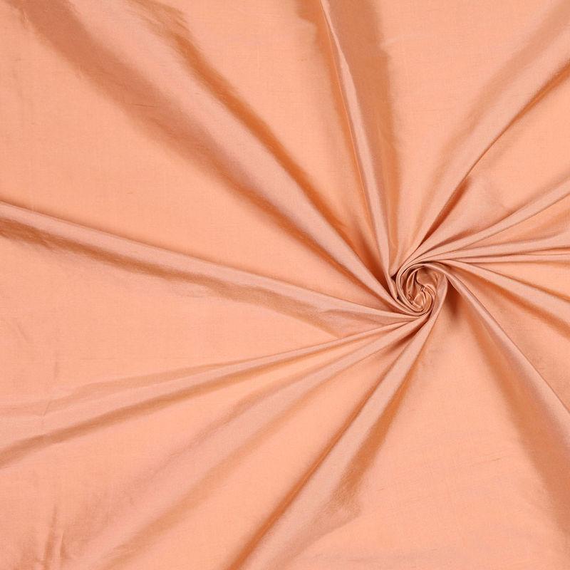 Dark Peach Solid Shantung/Dupioni