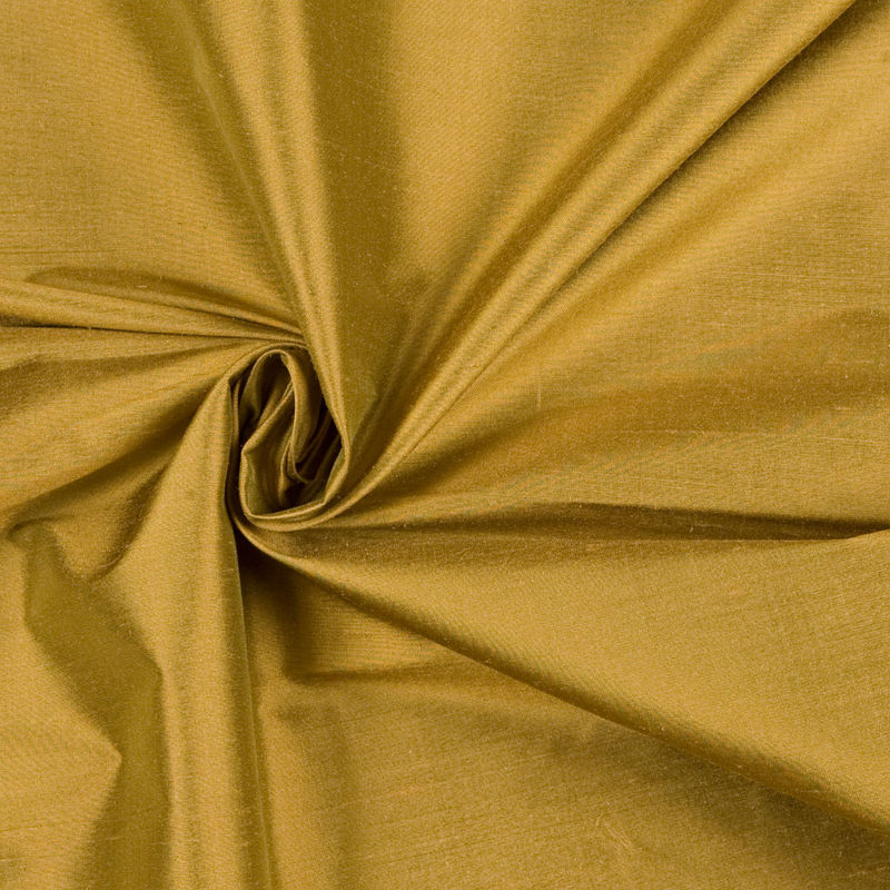 Plateau Gold Solid Shantung/Dupioni - Detail