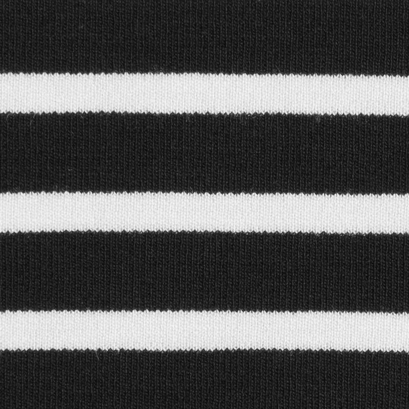 Black/Ecru Saint James Striped Ponte Knit - Detail