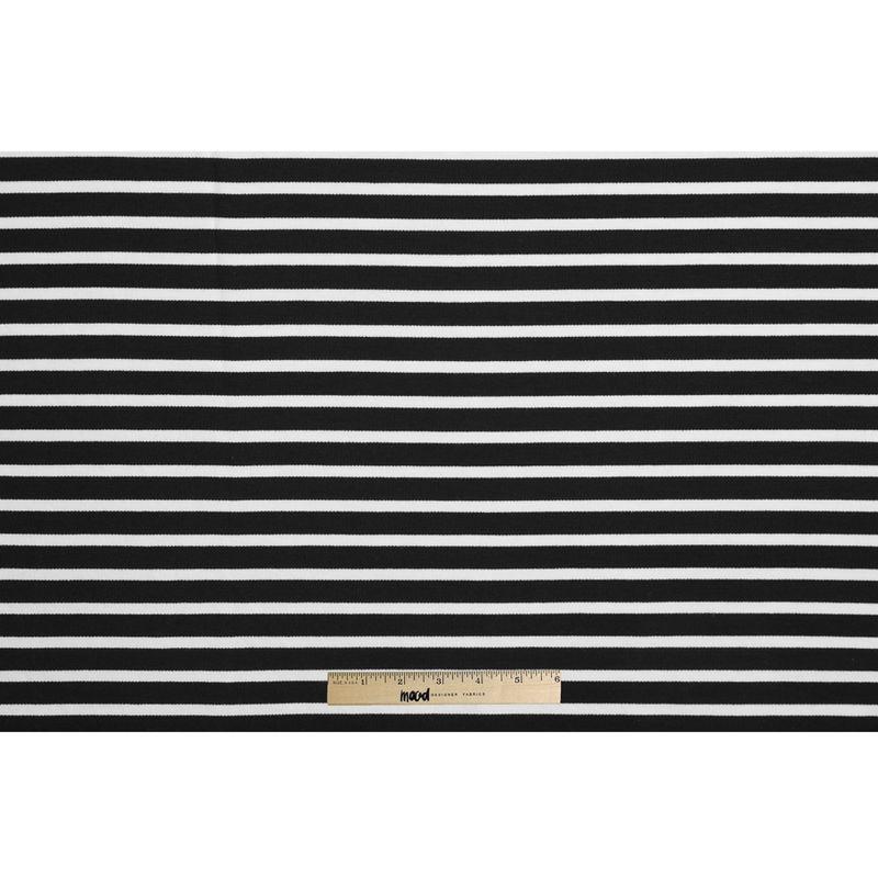 Black/Ecru Saint James Striped Ponte Knit - Full
