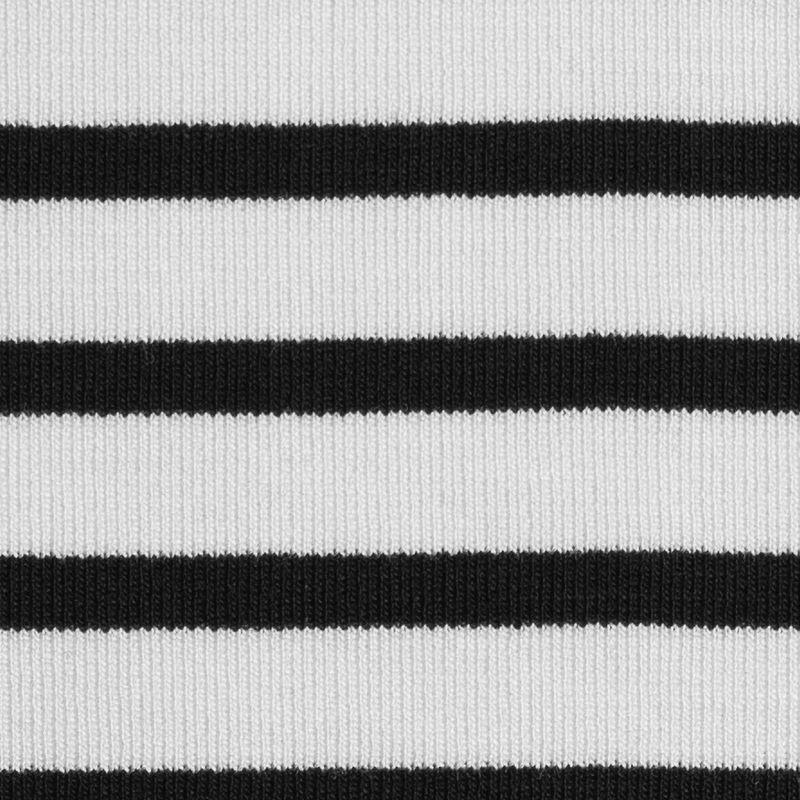 Ecru/Navy Saint James Striped Ponte Knit - Detail