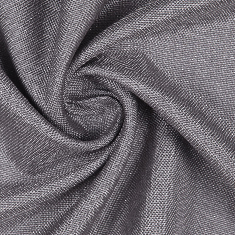 GrayMetallic Silver Solid Linen Lame - Detail