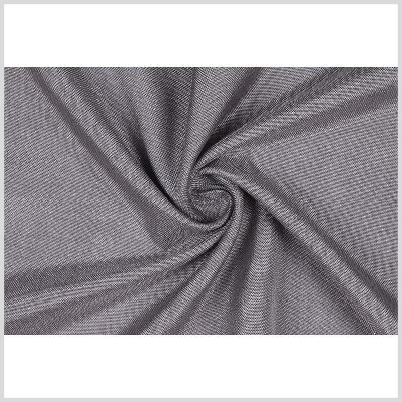 GrayMetallic Silver Solid Linen Lame - Full
