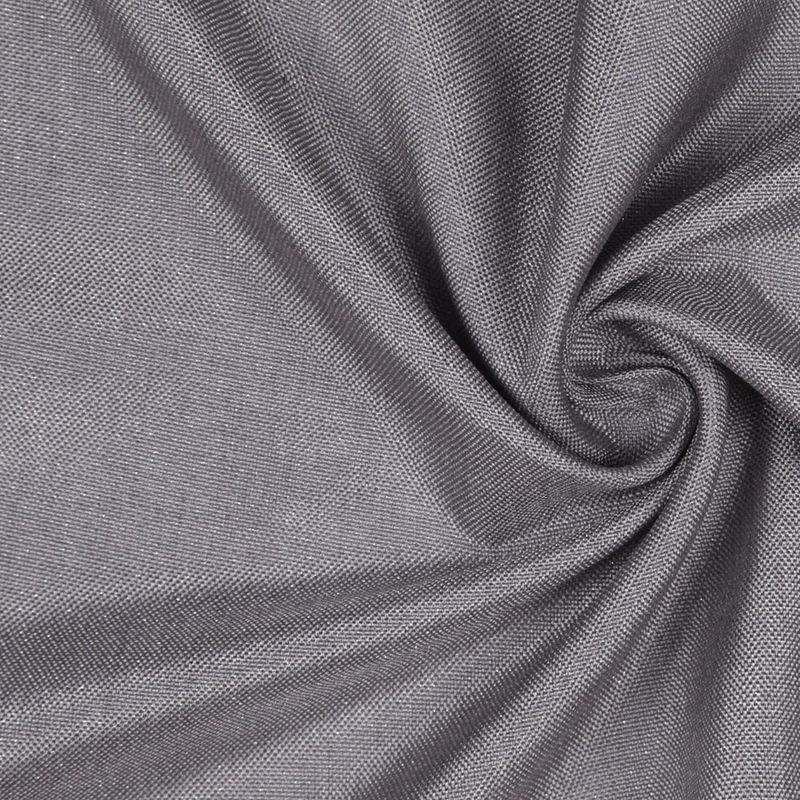 GrayMetallic Silver Solid Linen Lame