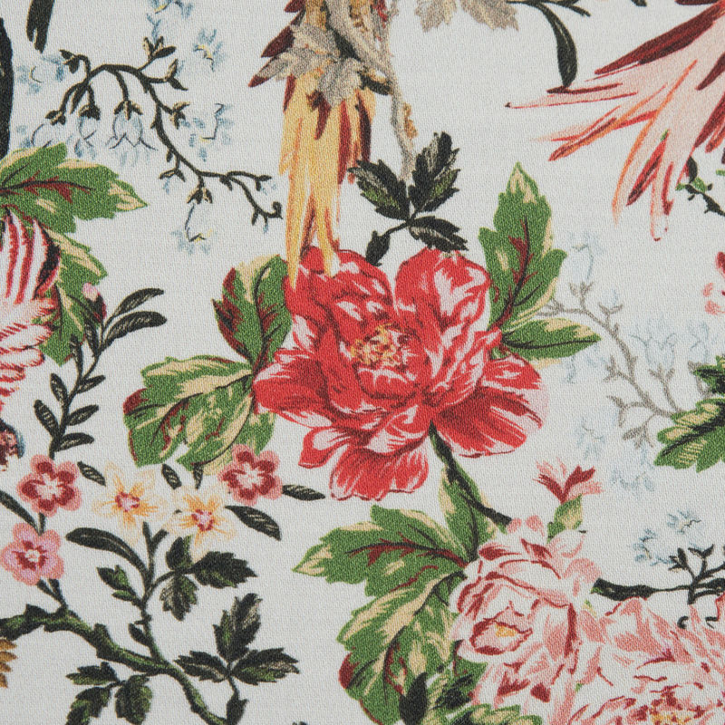 Mood Exclusive Parrots Play Amongst Flowers Stretch Cotton Sateen - Detail