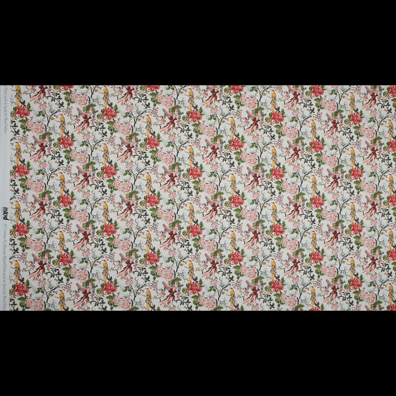 Mood Exclusive Parrots Play Amongst Flowers Stretch Cotton Sateen - Full