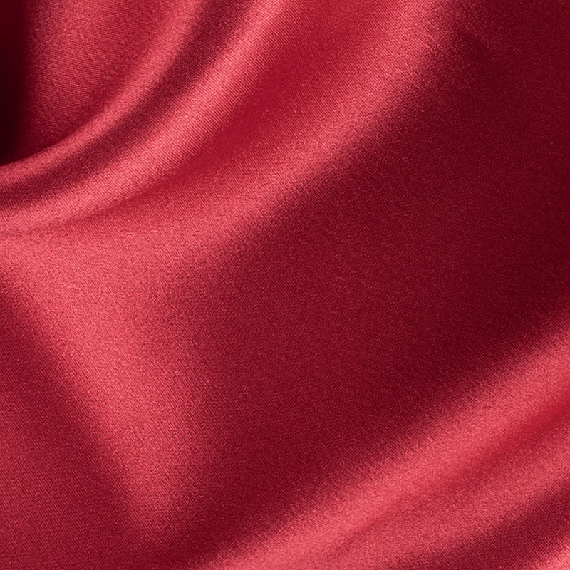 Red Silk Charmeuse - Detail