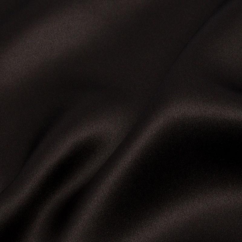Deep Charcoal Silk Charmeuse - Detail
