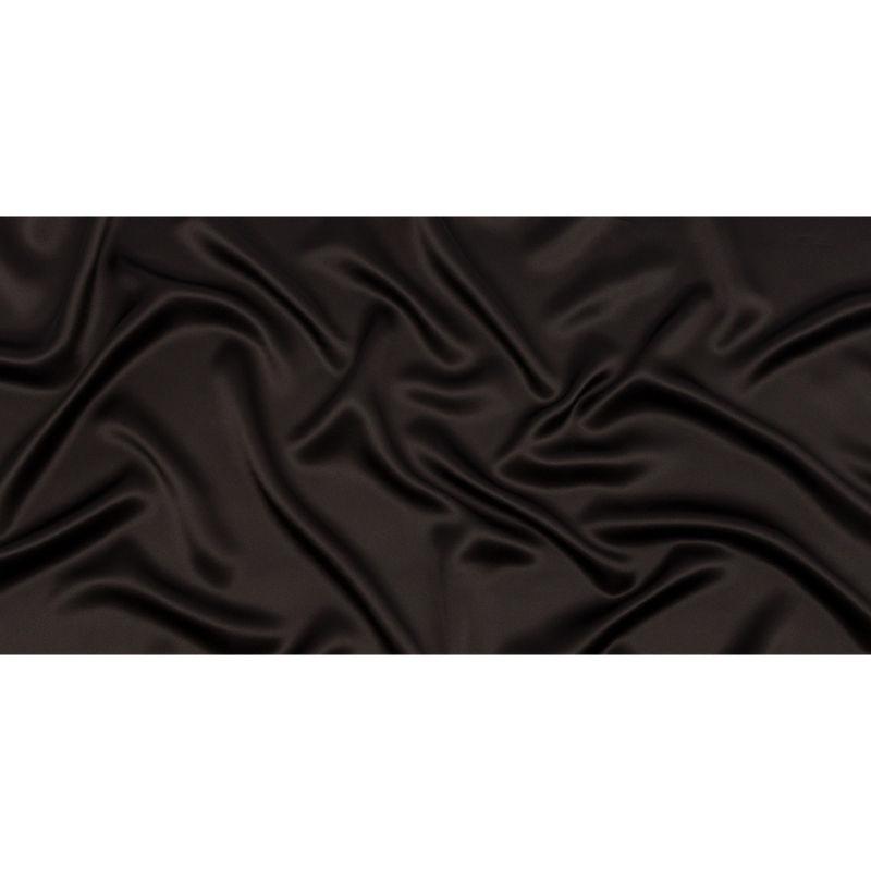 Deep Charcoal Silk Charmeuse - Full
